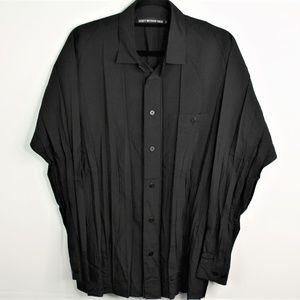 VTG Issey Miyake Men Pleats Black Button Shirt 3